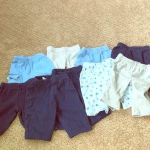 Lot of 9 newborn pants